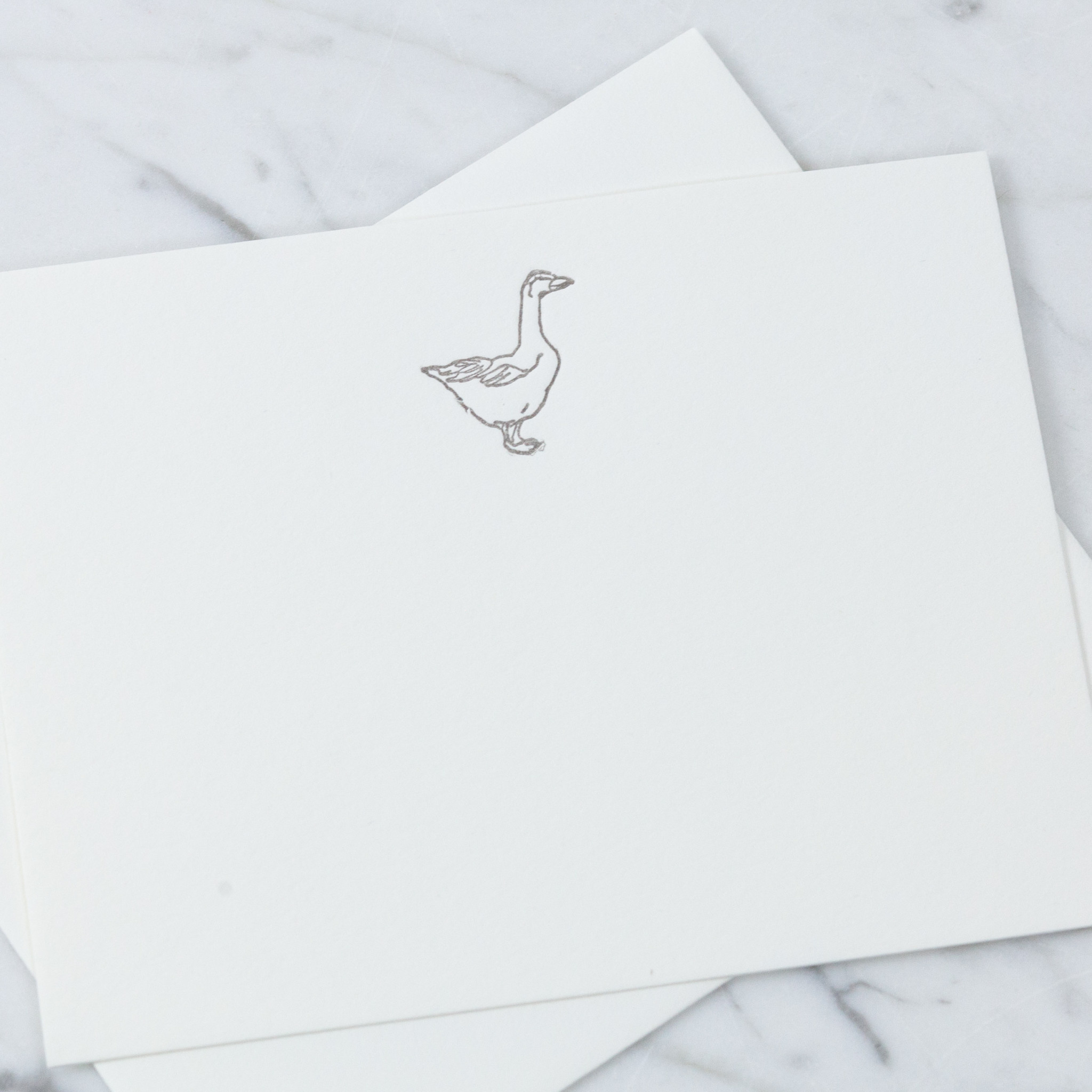 Letterpress Card and Envelope - Glorious Goose