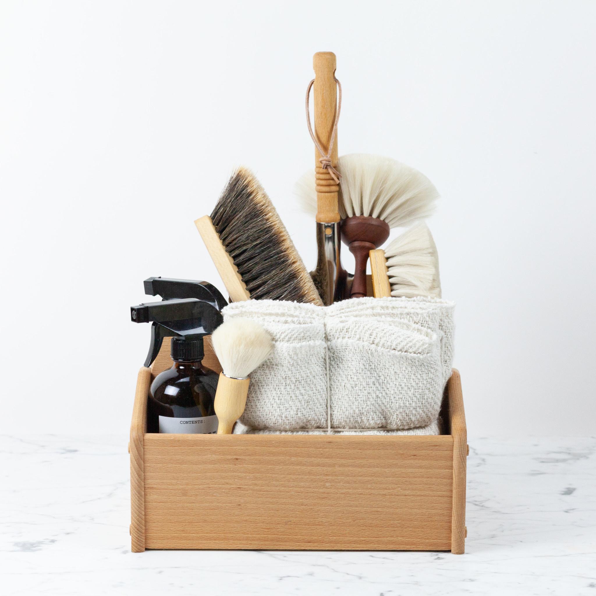 """Gentle White Goat Hair Dust Brush - 8.5"""""""