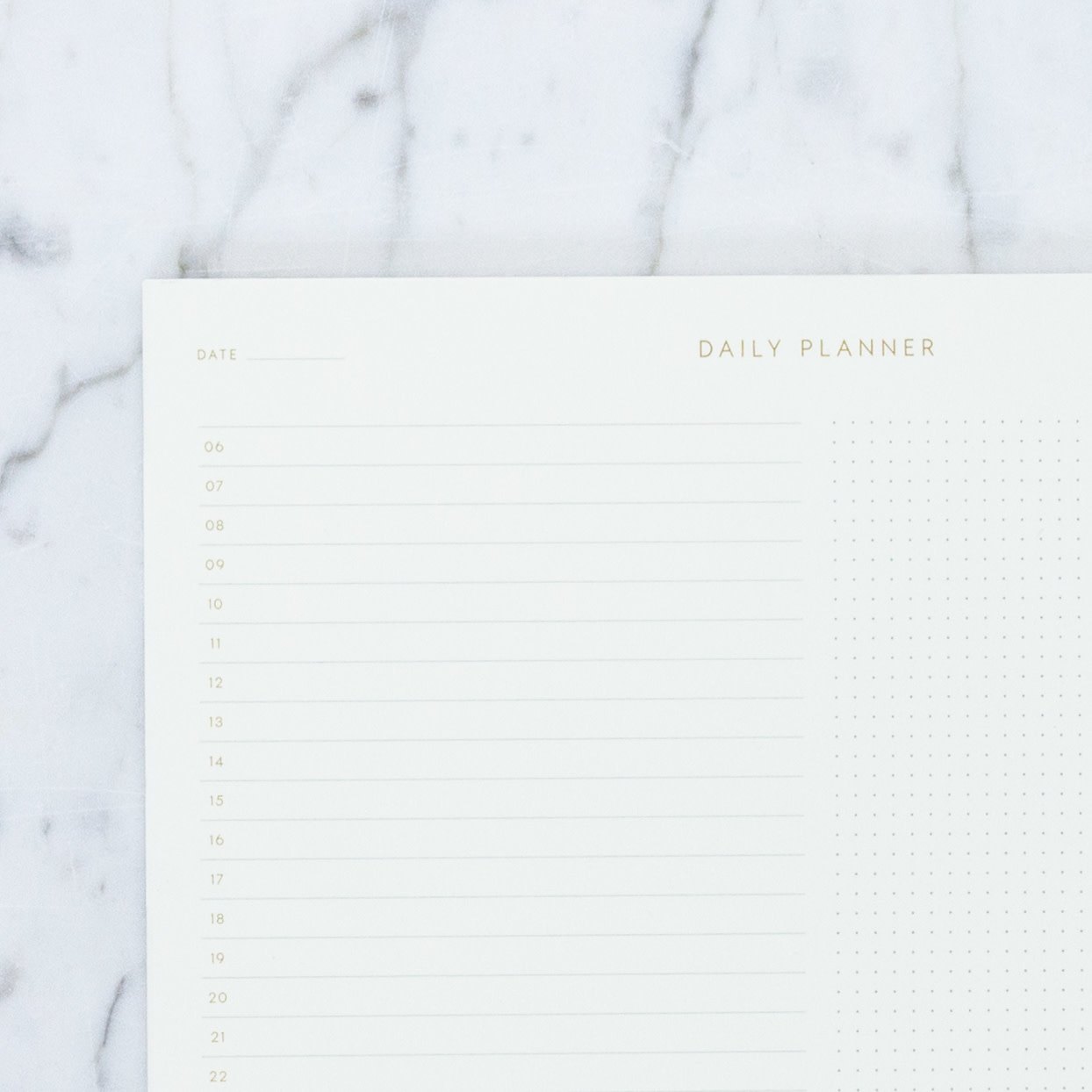 "Kartotek Simple Danish Daily Planner Pad - A5 - 6"" x 8"""