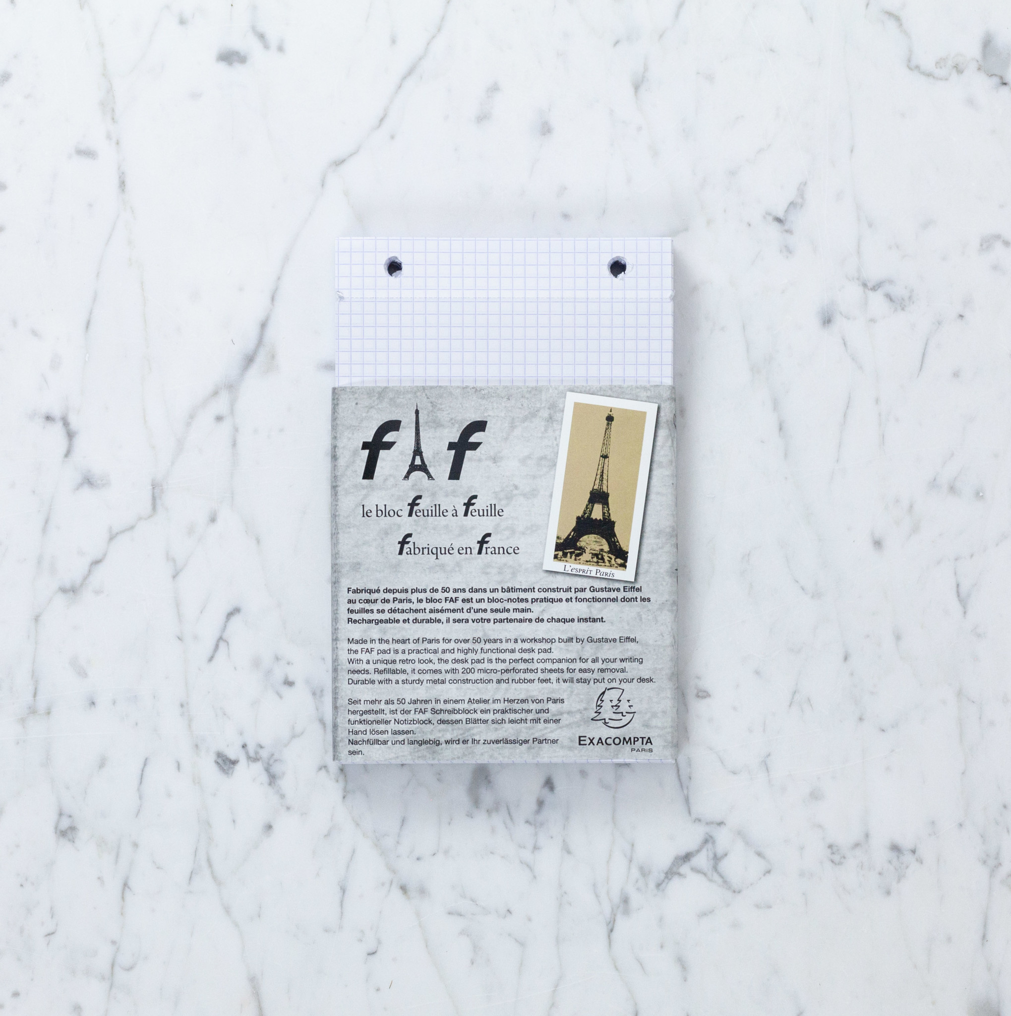 """Refill Sheets for Exacompta FAF Refillable Metal Desk Pad - Blank - Large - 5"""" x 8"""""""