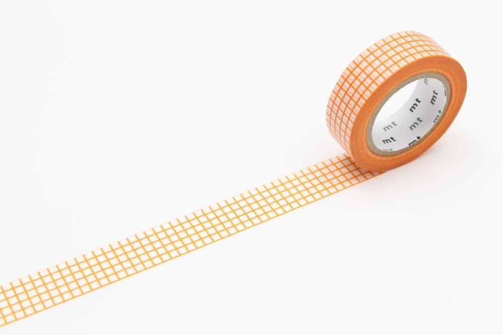 Washi Tape Single: Orange Check