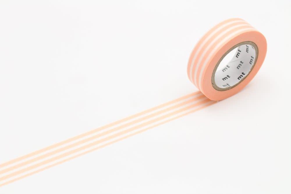 Washi Tape Single: Orange and White Stripes
