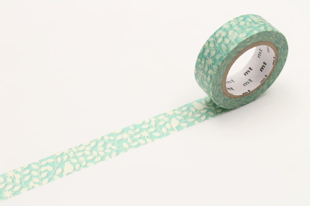 Washi Tape Single: Green and White Foliage