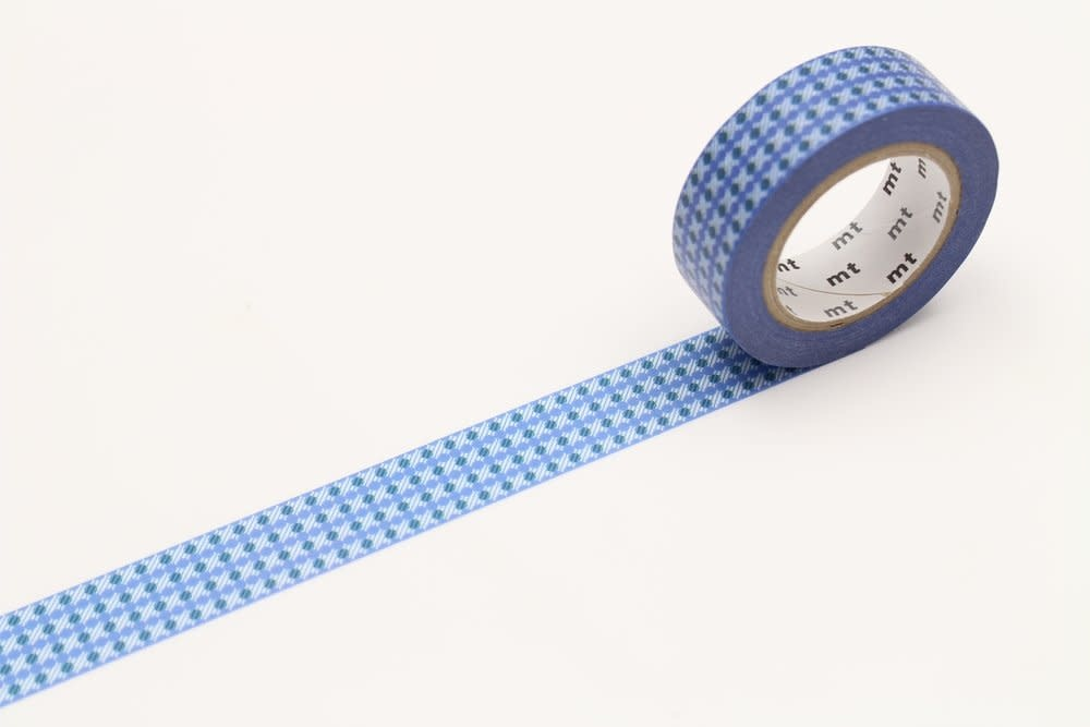 Washi Tape Single: Blue Dot Pattern