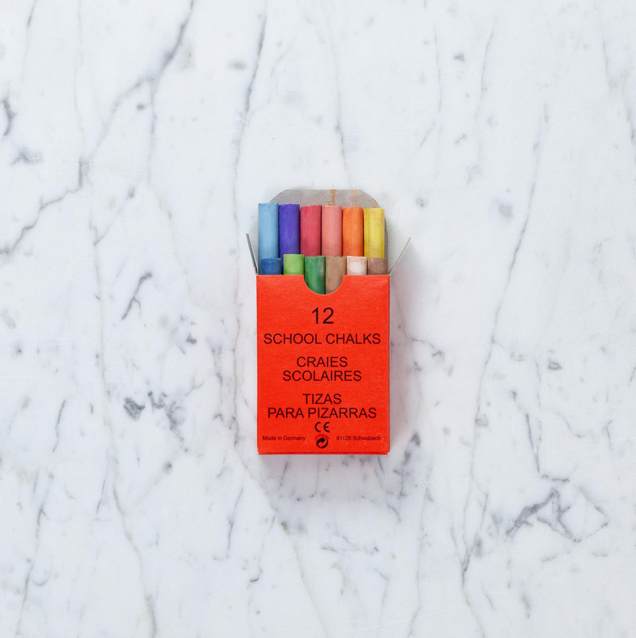 THREE STARS Colored Champagne Chalk - 12 Sticks In Box