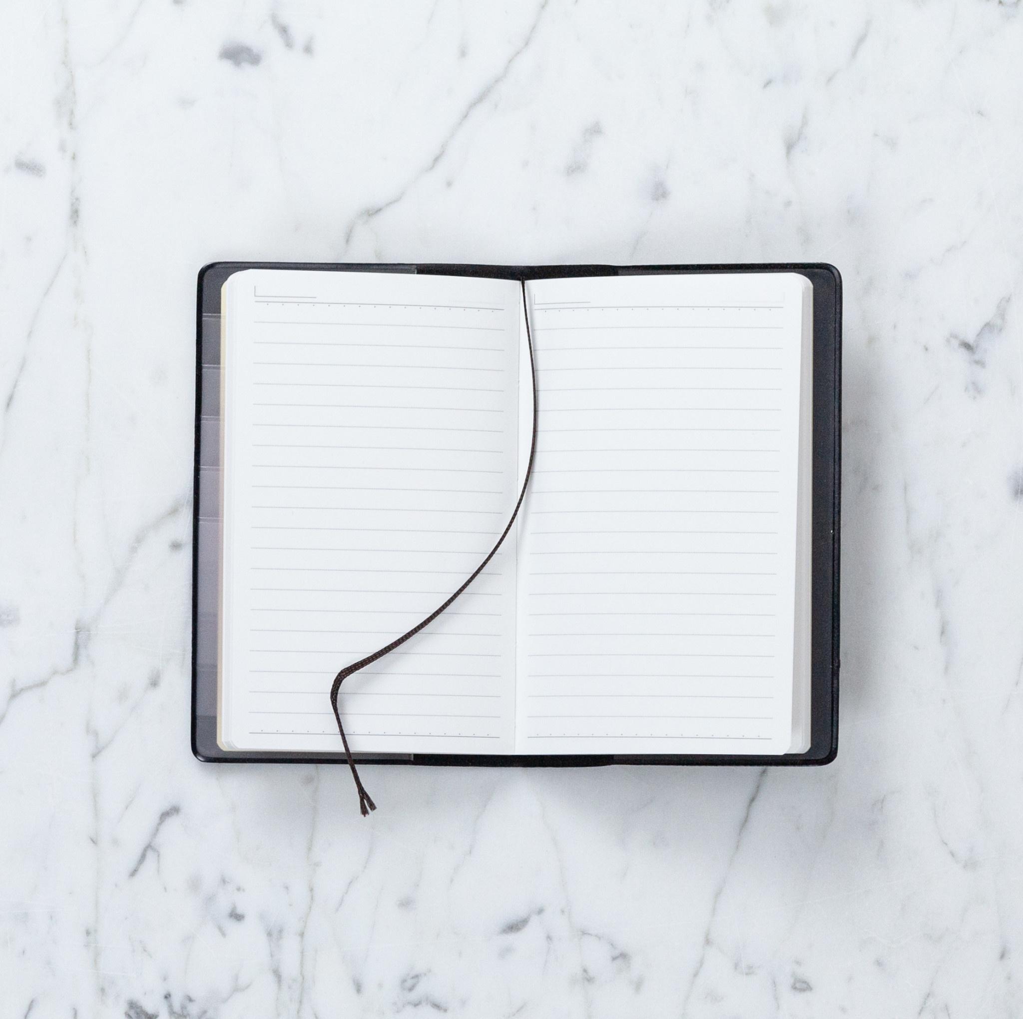 Black Memo Book - A6 - Ruled
