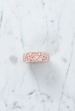Washi Tape Single: White and Red Flower Pattern