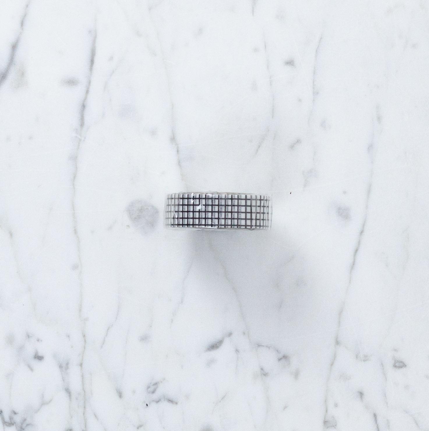Washi Tape Single: Black and White Check