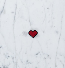 Hand Embroidered Macon & Lesquoy Pin - Red Heart