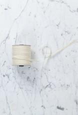 """Italian Cotton Ribbon - Cream with Metallic Gold Stripe - 1/4"""" Width - 109 Yard Spool"""