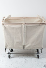 "Steele Canvas 3 Bushel Storage Basket with Natural Leather and 2"" Casters"