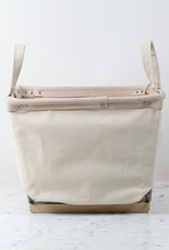 Steele Canvas 1 Bushel Storage Basket - Wood Runners with Natural Leather