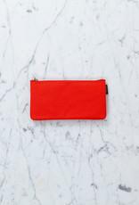 Delfonics Canvas Zipper Pouch - Slim - Orange