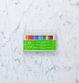 THREE STARS Colored School Chalk - 12 Sticks In Box