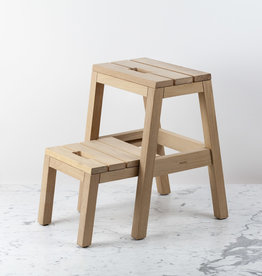 Skagerak Danish Dania Two Step Sliding Stool - Untreated Oak