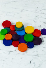 Grimm's Toys Wooden Rainbow Coin Set