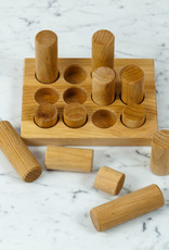 Grimm's Toys Wooden Rolling + Stacking Game Small - Natural