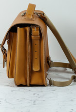 Ruitertassen Natural Leather Satchel - Convertible Shoulder or Backpack Straps - 2 Compartments