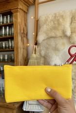 Delfonics Canvas Zipper Pouch - Slim - Yellow