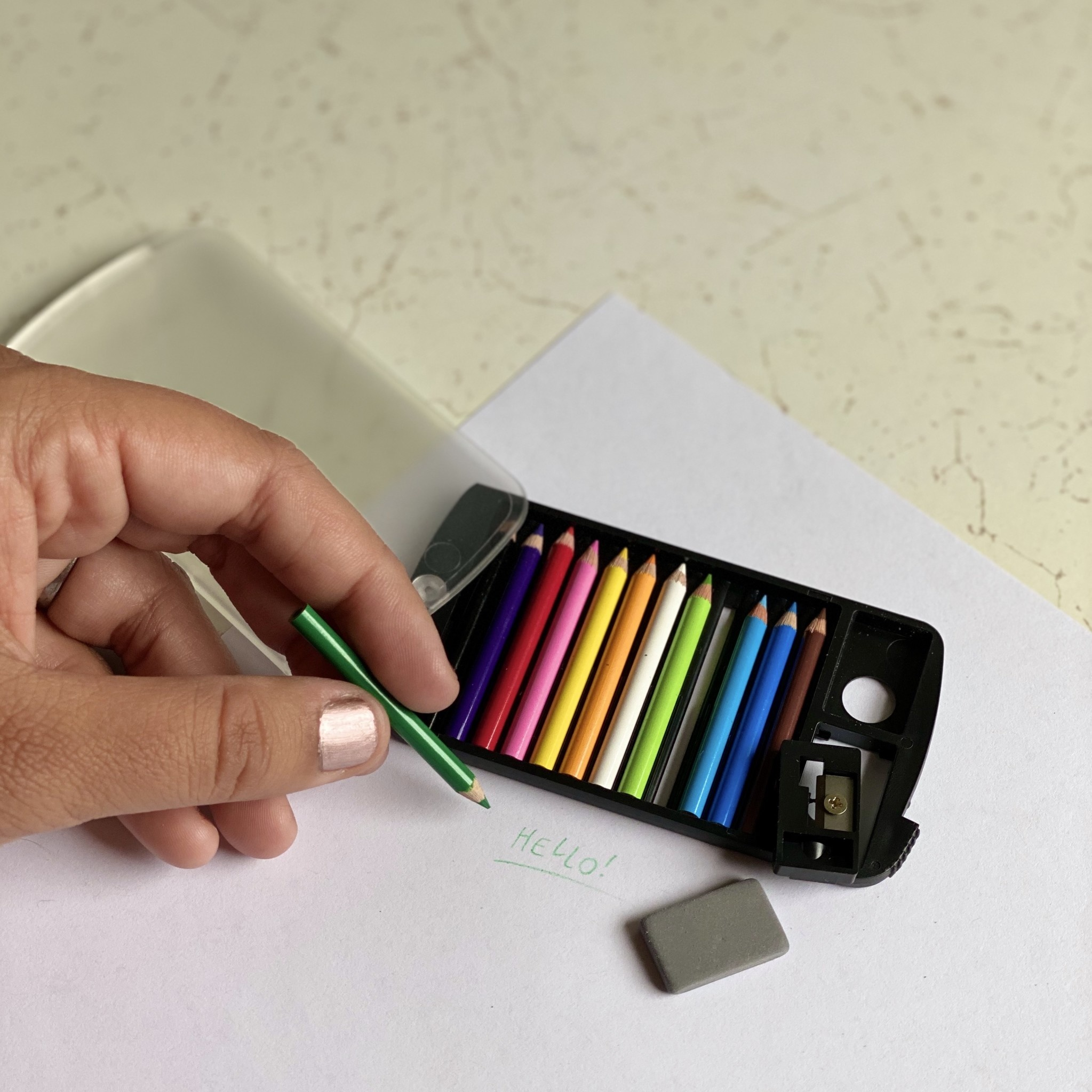 Mini Color Pencil Set with Sharpener