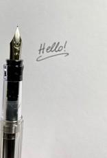 Kakuno Clear Fountain Pen - Fine