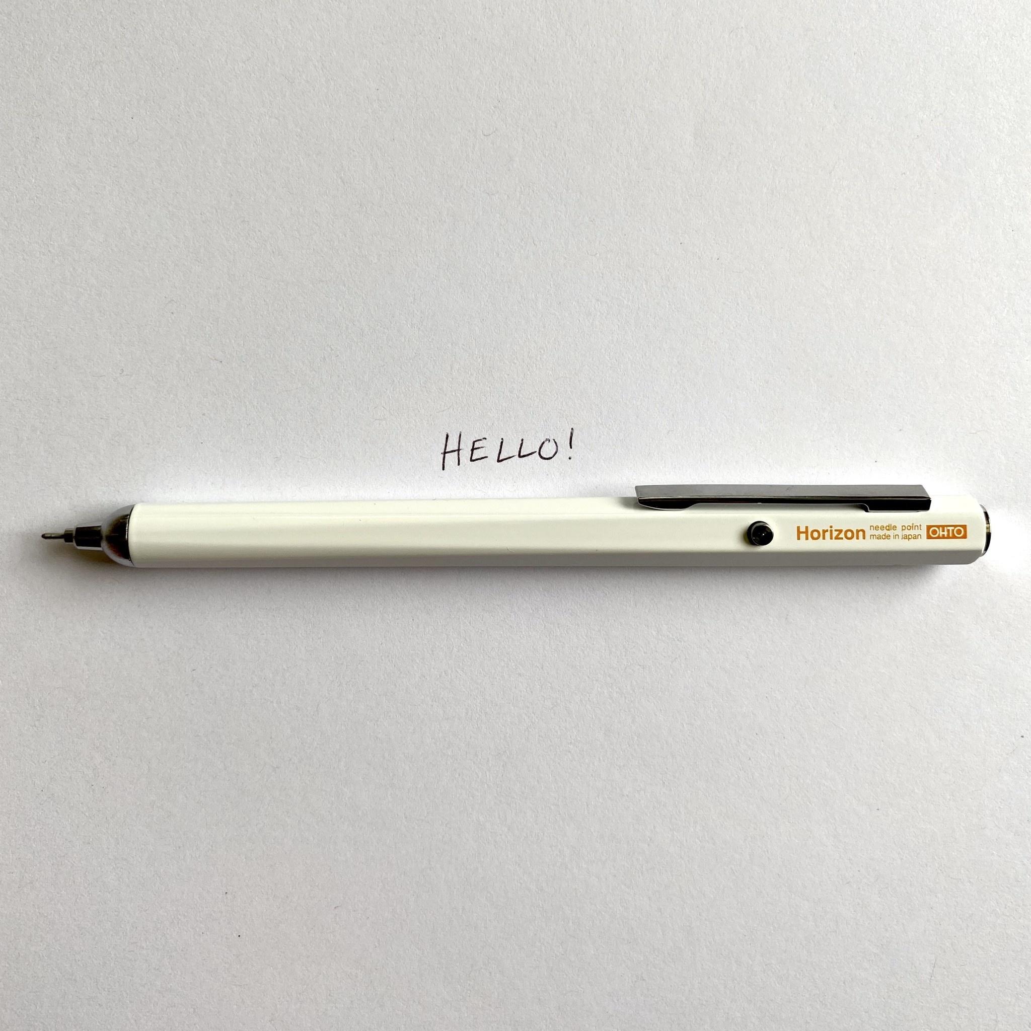 Needle Point Horizon Hexagonal Pen - White - 0.7mm