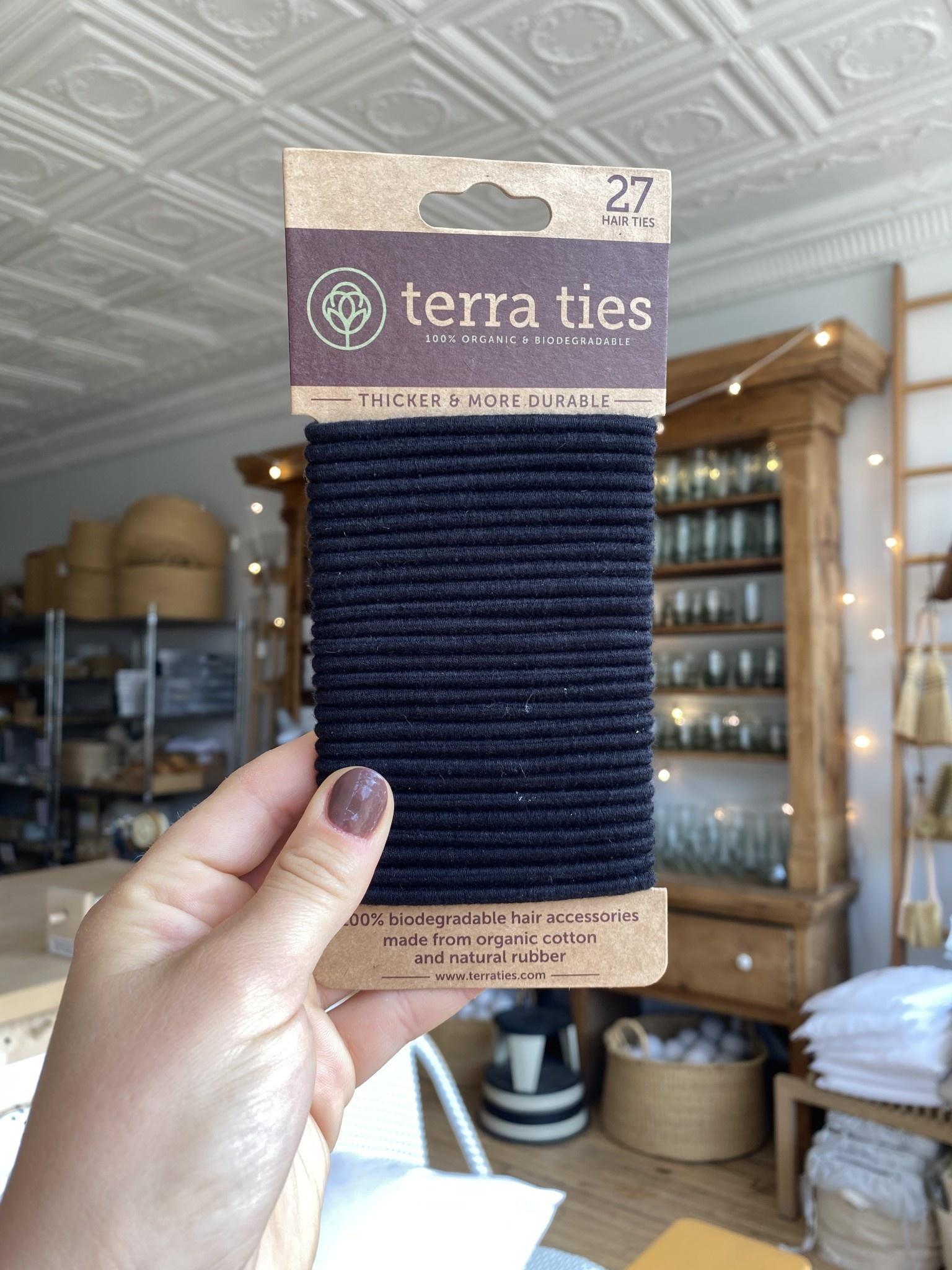 Terra Ties Organic Biodegradable Hair Ties
