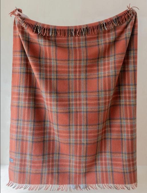 The Tartan Blanket Co Recycled Wool Blanket - Stewart Royal Antique
