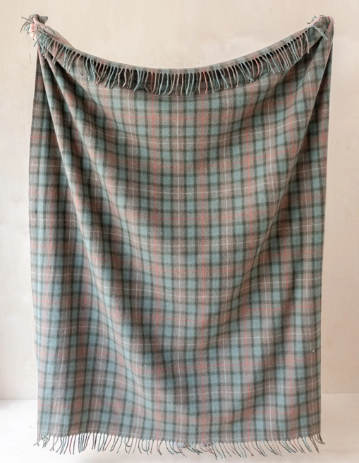 The Tartan Blanket Co Recycled Wool Blanket - Fraser Hunting Weathered Tartan
