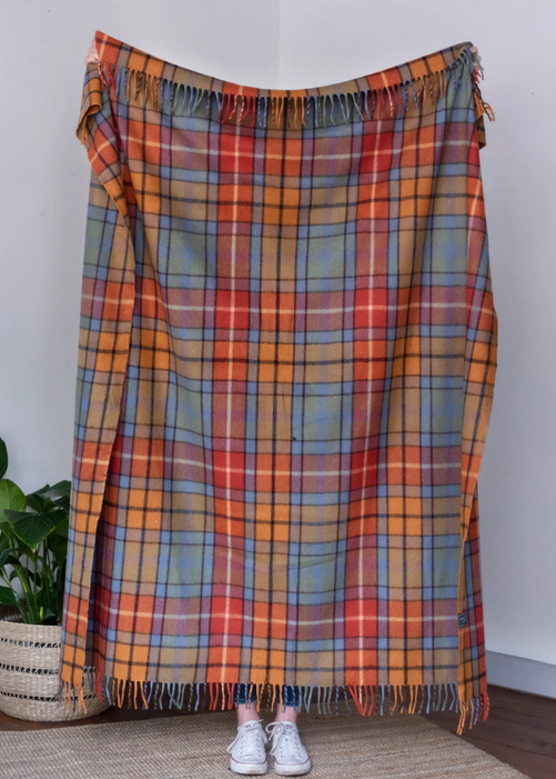 The Tartan Blanket Co Recycled Wool Blanket - Buchanan Antique Tartan