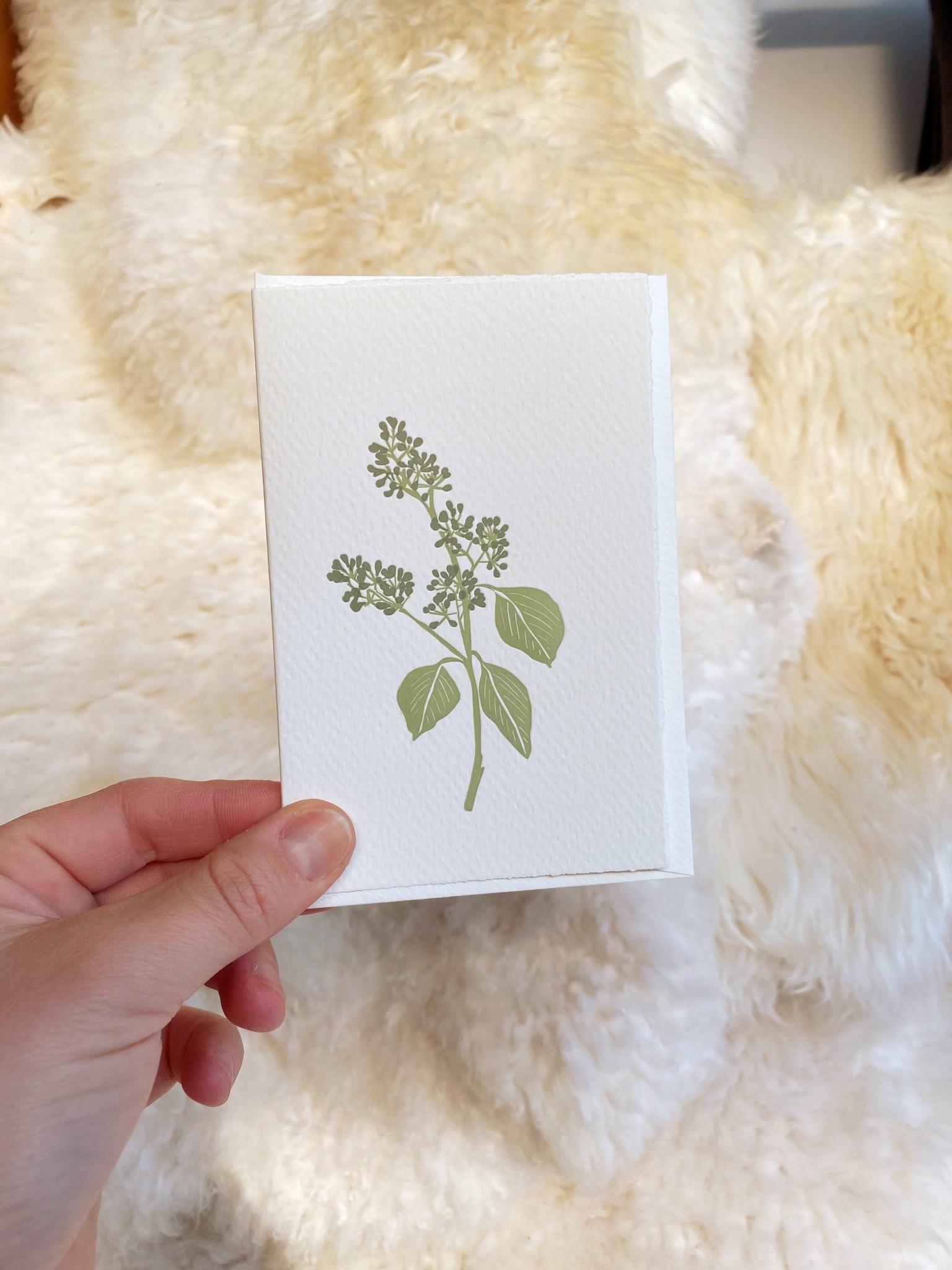Brown Parcel Press Letterpress Seeded Eucalyptus Card