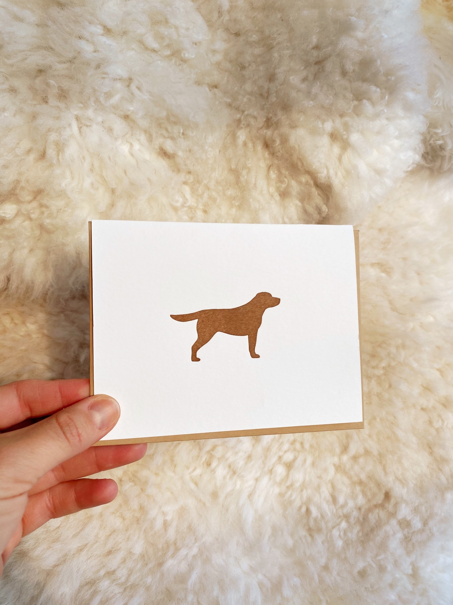 Loyal Supply Co Letterpress Chocolate Labrador Card
