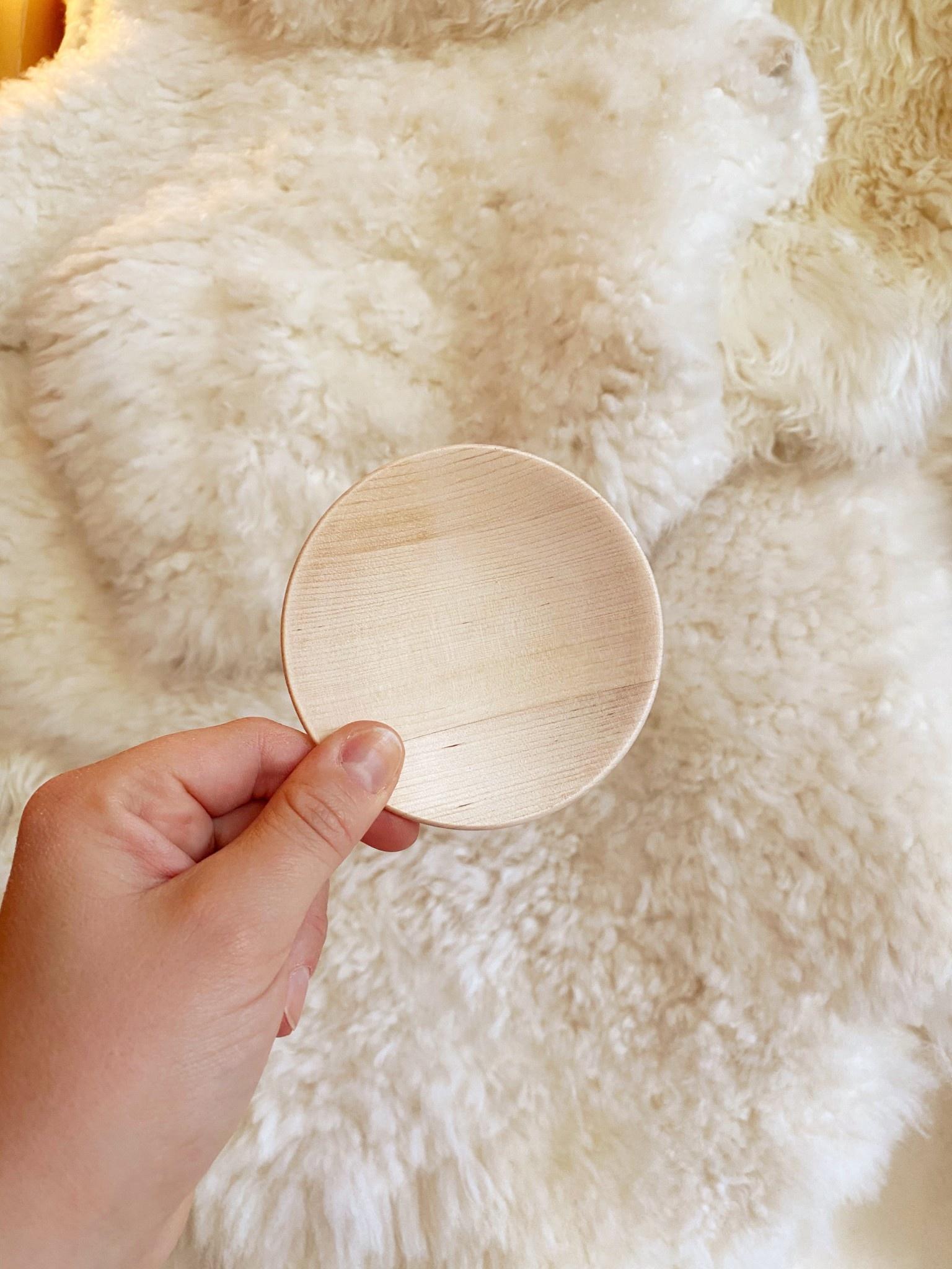 """Iris Hantverk Oiled Birch Plate - Small - 3.75"""""""