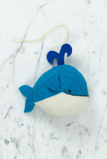 Hand Felted Melville's Whale Ornament