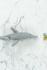 Craftspring Hand Felted Grey Dolphin Ornament