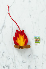 Hand Felted Campfire Ornament