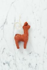 Craftspring Hand Felted Gentle Spotted Deer Fawn Ornament - Orange