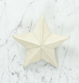 Hand Felted White Star Topper - Small