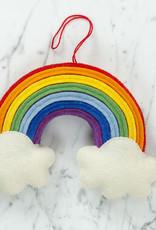 "Hand Felted Over The Rainbow Wall Hanging - Medium - 9"""