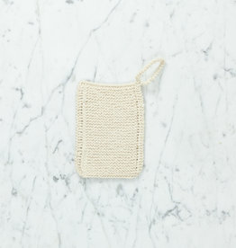 Hand Knit Organic Scrubbing Pad with Loop - Individual