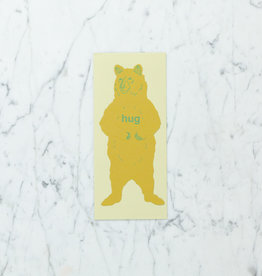 Blackbird Letterpress Letterpress Grizzly Bear Hug Card