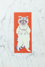 Blackbird Letterpress Letterpress Oops Raccoon Card