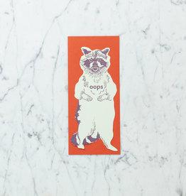 Blackbird Letterpress Letterpress Oops Rcacoon Card