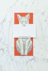 Blackbird Letterpress Letterpress Howl Yes Grey Fox Card
