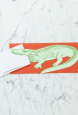 Blackbird Letterpress Letterpress Later Alligator Card