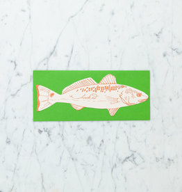 Blackbird Letterpress Letterpress Hooked Fish Card