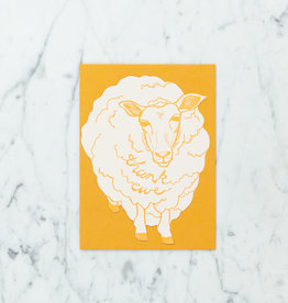 Blackbird Letterpress Letterpress Thank Ewe Card