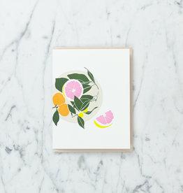 Brown Parcel Press Letterpress Citrus Grapefruit Card