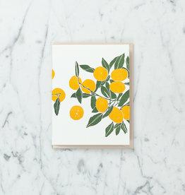 Brown Parcel Press Letterpress Fresh Oranges Card
