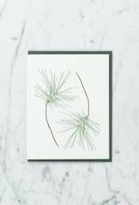 Brown Parcel Press Letterpress Whispering Pines Card
